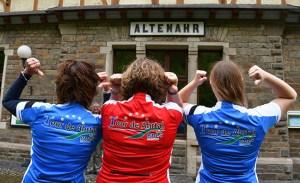 Gut gekleidet ist man in den ene-Trikots der Tour de Ahrtal. Die Funktionskleidung wird zum Selbstkostenpreis veräußert. Bild: Wolfgang Andres