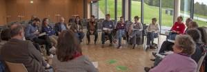 """Die Besucher und Besucherinnen hatten insgesamt sieben Workshops zur Auswahl, in denen unterschiedliche Aspekte rund um das Thema """"Integration"""" beleuchtet wurden. Foto: M. Isso"""