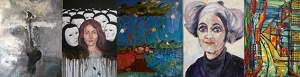Künstlerinnen aus Albanien, Iran, Moldawien, Polen und der Türkei stellen in der Schleidener Galerie Eifel Kunst aus. Montage: Marita Rauchberger