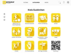 """Mit erweiterten Funktionen und mittlerweile in sechs Sprachen: Die """"neue"""" InteGreat-App steht ab sofort zum Download bereit. Screenshot: Kreisverwaltung"""