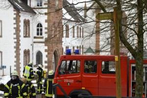 Mit dem Schrecken davon kamen Besucher und Mitarbeiter des Klosters Mariawald bei Heimbach. Bild: Christian Blumenthal