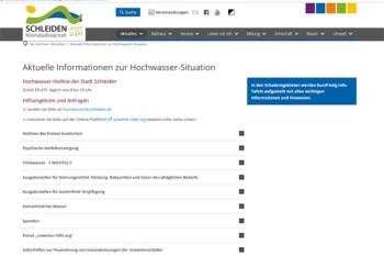 So wie die Stadt Schleiden, halten jetzt auch andere Kommunen wichtige Informationen für die Bürgerinnen und Bürger bereit. Bild: Screenshot/Stadt Schleiden