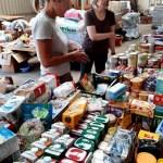 Das Spendenlager beim Kaller Bauhof ist mehr als gut gefüllt. Bild: Reiner Züll
