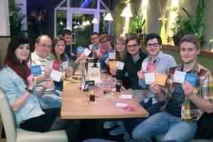 Die Jusos im Kreis Euskirchen haben eine Bierdeckel-Aktion gegen Rechtspopulismus gestartet. Bild: Jusos