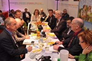 Während einer Pressekonferenz auf der ITB in Berlin wurden die aktuellen Gästezahlen für die Eifel bekannt gegeben. Bild: reiner Züll