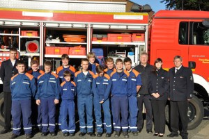Die Jugendfeuerwehr Kall im 20. Jahr ihres Bestehens. Bild: Feuerwehr Kall