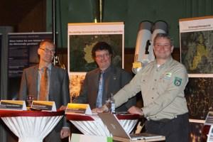 Thomas Fischer-Rheinbach, Harald Bardenhagen und Michael Lammertz (v.l.) freuten sich über die Auszeichnung. Bild: Tameer Gunnar Eden/Eifeler Presse Agentur/epa
