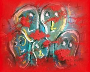 Die Bilder von Beatrix Schongen bestechen durch eine hohe Farbintensität. Bild: Schongen
