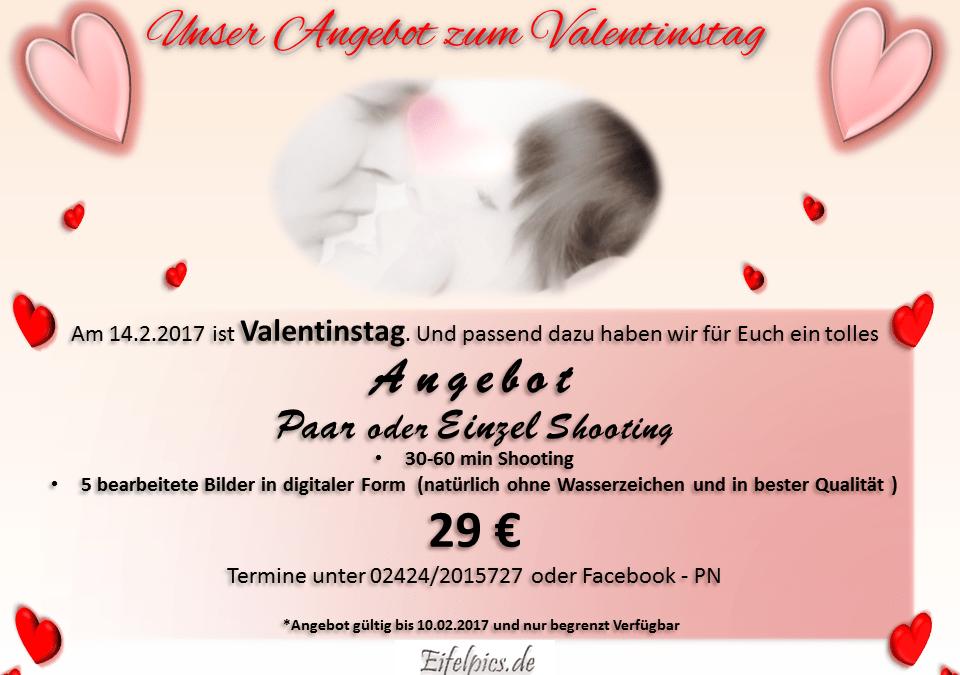 Einzel- oder Paar- Fotoshooting zum Valentinstag – Angebot im Januar 2017 bei Fotografie Larberg