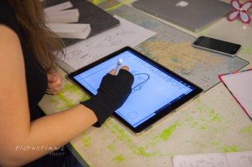 Illustration am iPad