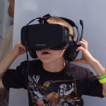 Oculus Rift. It so did to fit on my little cousin due to short interocular distance