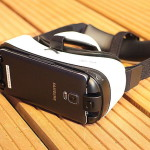 Samsung GearVR headset with the phone.