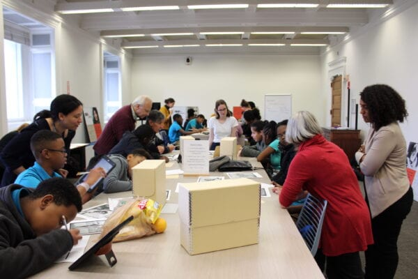 826DC students working hard at a Library of Congress research skills workshop.