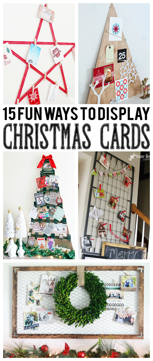 15 Fun Ways To Display Christmas Cards Eighteen25