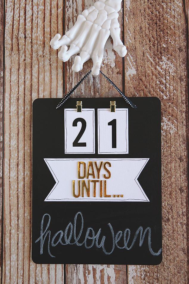 halloween countdown chalkboard