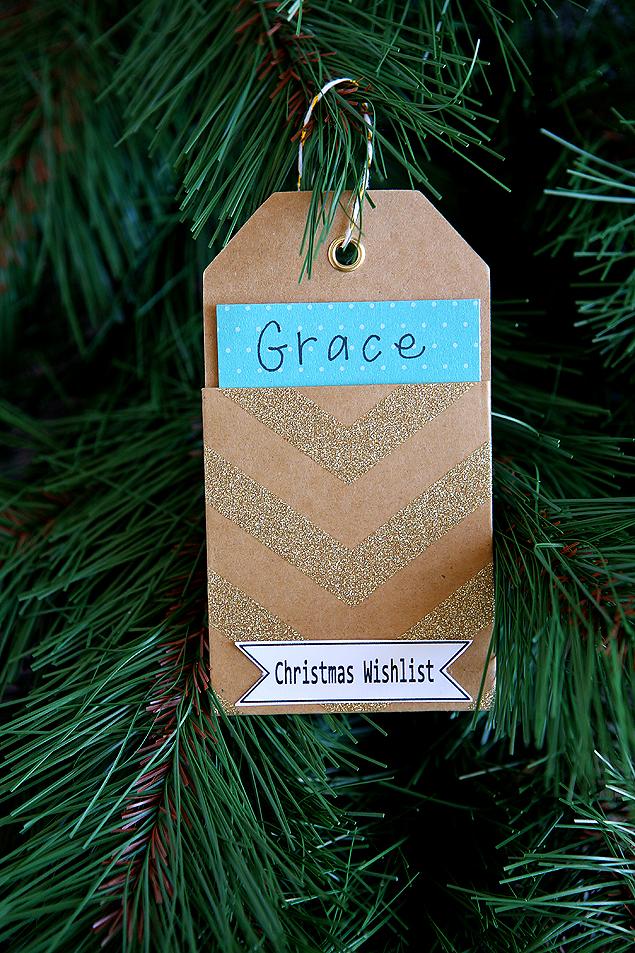 Christmas Wishlist Ornament