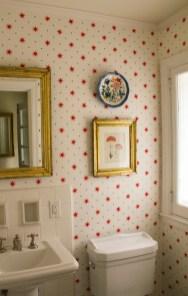 Serendipity red wallpaper