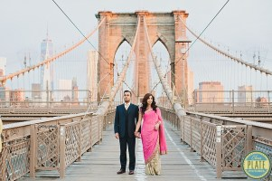 Tuesday, May 6, 2014. Tina and Chirag's engagement shoot on the Brooklyn Bridge, around DUMBO, Brooklyn, the meat packing district in Manhattan and the Gansevoort Hotel New York City.