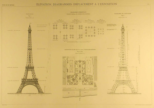 Eiffel Tower blueprints example