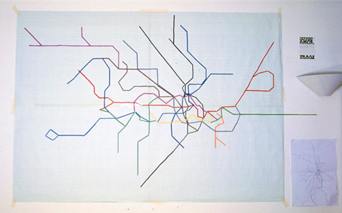 The Underground map represented by time