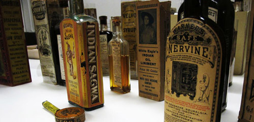 Collection of old 'medicine' bottles