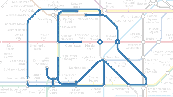 Elephant on the Underground map