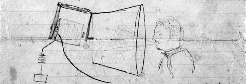 Sketch of telephone prototype
