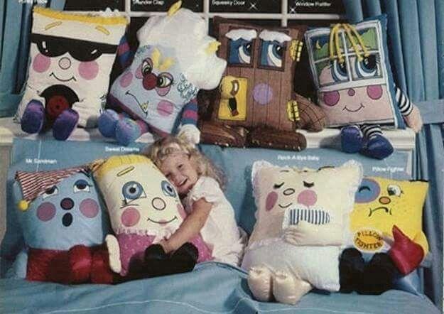 pillows as toys 80s baby