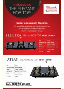 Sleek Hob top-Atlas-4 burner
