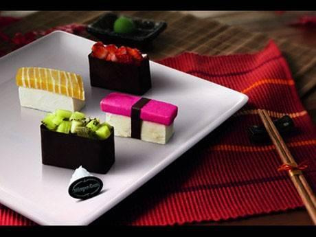would like と want どう違いますか?アイスクリームで作られている寿司-函館英会話教室EigoLa