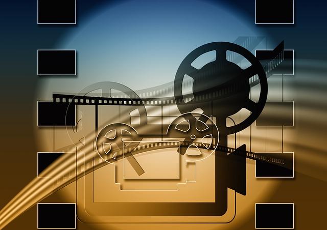 映画の上映を表している背景