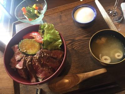 雅樂倶のステーキ丼