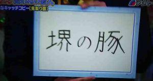 見取り図・盛山晋太郎のキャッチコピーが堺の豚