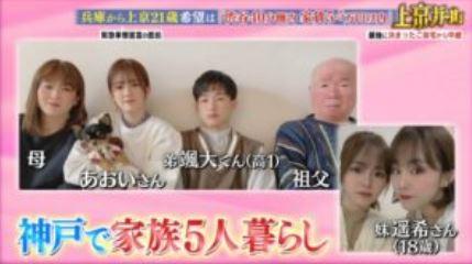 川口葵と家族の写真