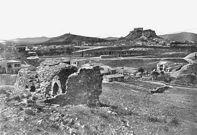 Αθήνα, άποψη της Ακρόπολης, ημερομηνία άγνωστη