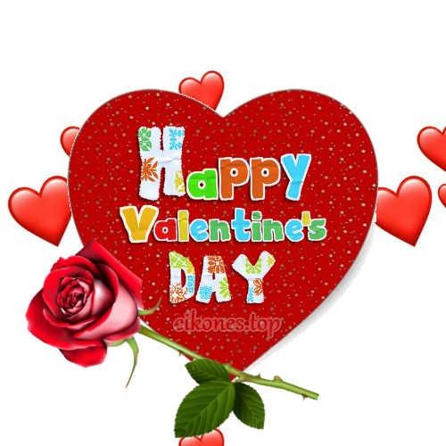 Εικόνες για Happy Valentine's Day σε κόκκινες  αποχρώσεις