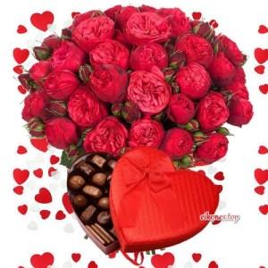Λουλούδια με αρκουδάκια, καρδούλες και σοκολατάκια