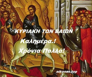 Εικόνες για την Κυριακή των Βαΐων.!
