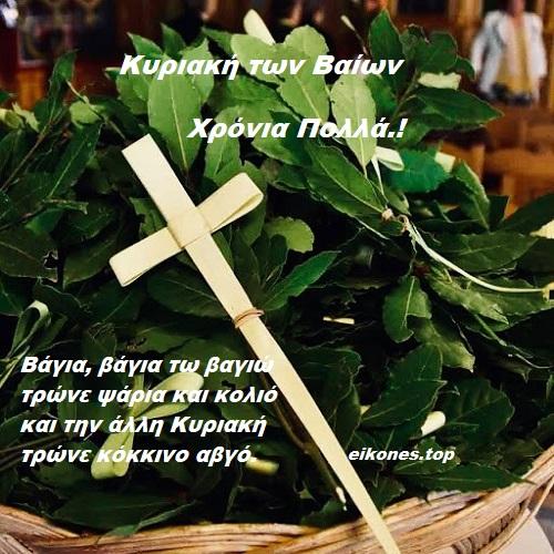 Εικόνες για την Κυριακή των Βαΐων.!-eikones.top