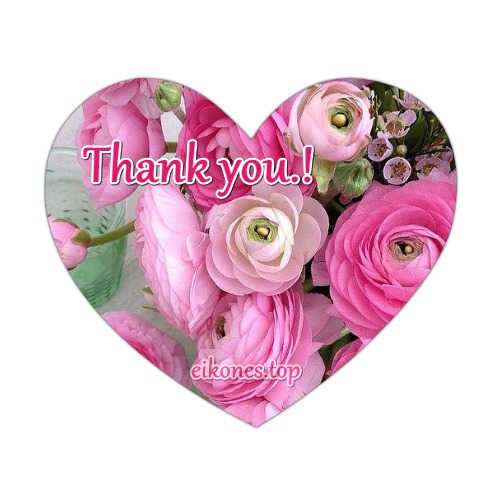 Pictures with hearts and flowers for Thank you.!eikones.top