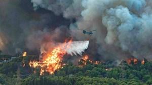 Read more about the article Εικόνες που κόβουν την ανάσα από τη μάχη των Ενόπλων Δυνάμεων στις πυρκαγιές -BINTEO