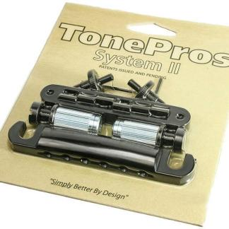 TonePros LPBS02-BLK Tune-o-matic Bridge en Tailpiece Set