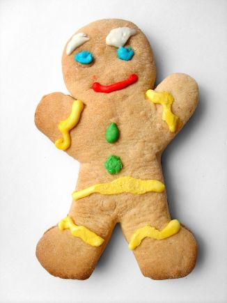 gingerbread cookie modeled after Gingy from Shrek movie