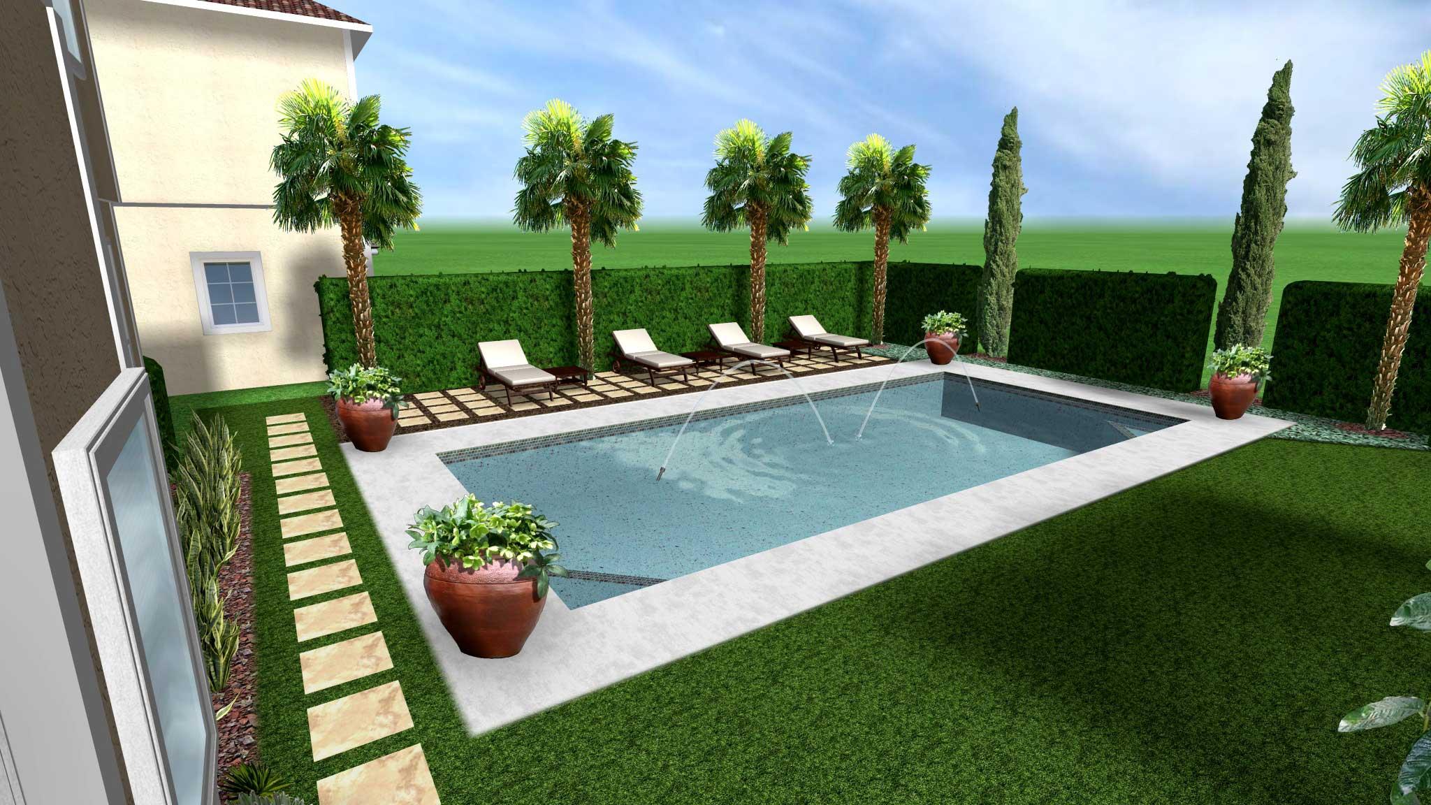 Mediterranean Pool Design Eileen G Designs