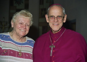 Eileen George with Archbishop George Pearce