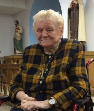 Eileen at her monthly service. St. John's Church. February 23, 2014