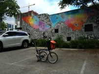 A stop at Mellow Johnny's Bike Shop and the mural next store