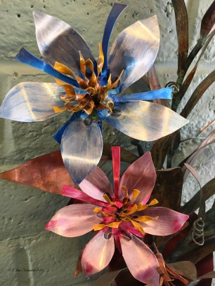 Copper flowers at the Tubac Arts Festival