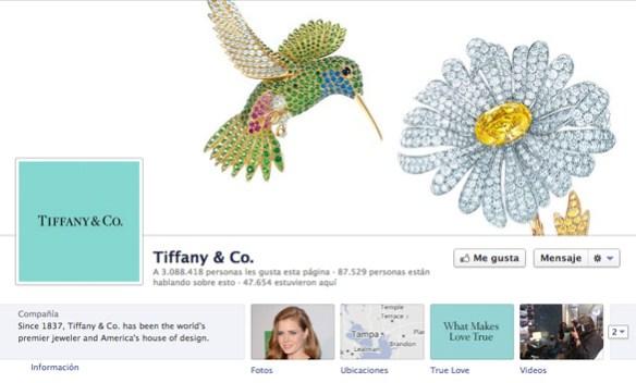 Fragmento de la captura de pantalla de la fan page de Tiffany