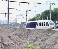 На Выдубичах строят платформу для остановки Kyiv Boryspil Express